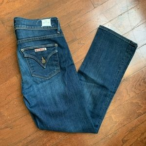 Hudson Crop Midrise Beth Baby Boot Cut Jeans 27